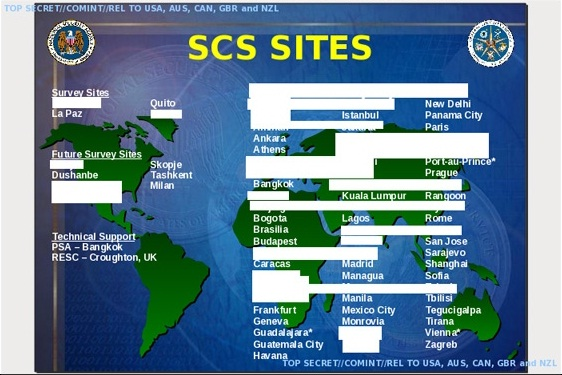 NSA's Top Secret Special Collection Service (SCS) sites