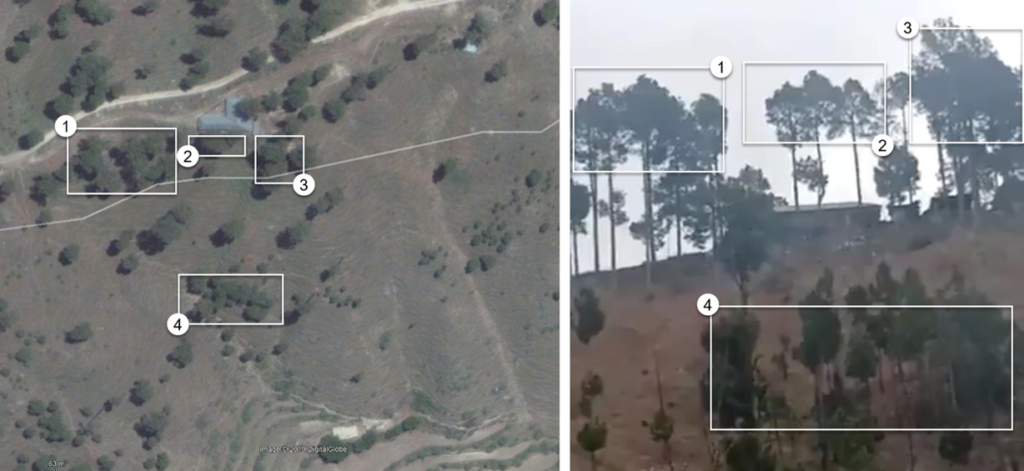 Balakot Airstrike Satellite Imagery Analysis