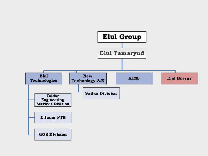 Corporate Structure of Elul Group involved in Operation Seashell