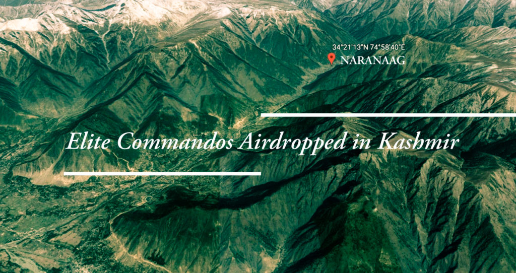 Elite Commandos Airdropped in Kashmir Forests