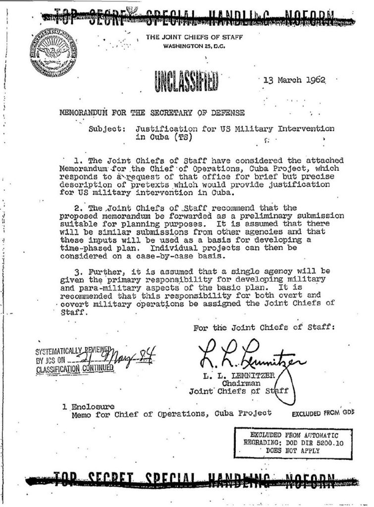 Operation Northwoods - The Cuba Project