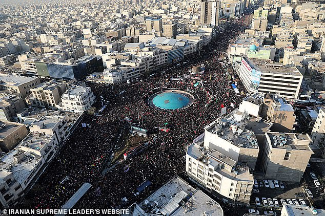 Iranian state media said 'millions' of people had gathered in Tehran to mourn Soleimani's death in scenes not witnessed since the death of revolutionary leader Ayatollah Ruhollah Khomeini in 1989