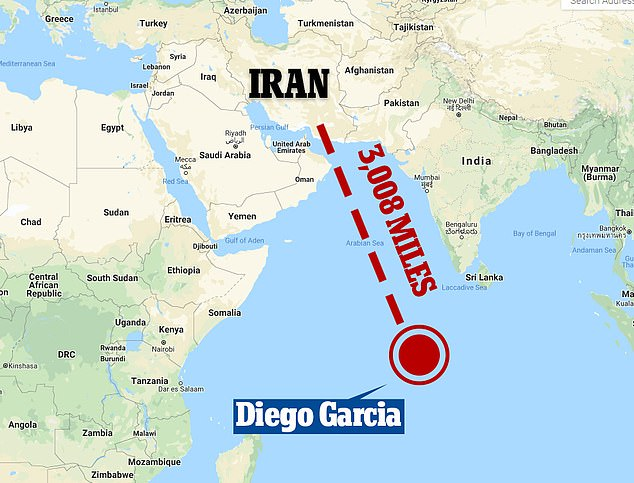 Indian Ocean Naval Base Diego Garcia Launchpad to attack Iran
