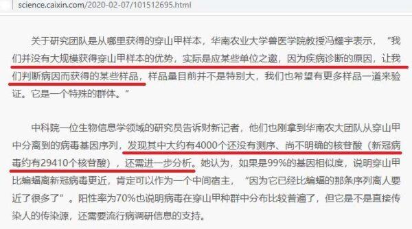 Caixin News Report Screenshot