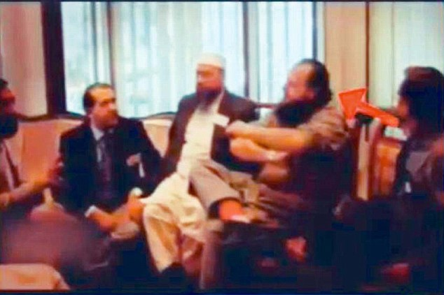 David Headley with Hafiz Saeed