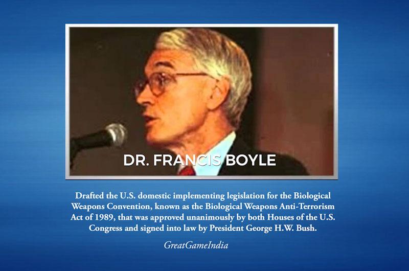 """חשיפה:סין ארה""""ב רוסיה בריטניה וקנדה עבדו על וירוס קורונה כנשק ביולוגי במשך שנים-מעבדה סודית של צבא סין נמצאת 20ק""""מר מהמקום שבו התגלה הוירוס Dr-Francis-Boyle-Coronavirus-Biological-Warfare-Weapon"""