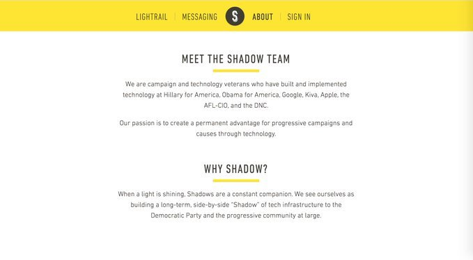 SHADOW Hillary Clinton's Startup