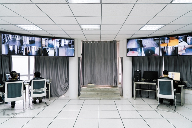 The central monitor room at China's National Bio-safety Laboratory.