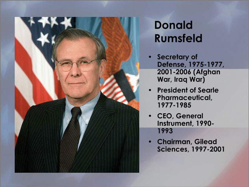 Donald Rumsfeld Gilead Sciences
