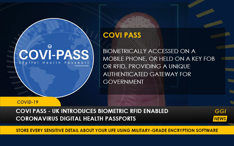 COVI PASS – UK Introduces Biometric RFID Enabled Coronavirus Digital Health Passports
