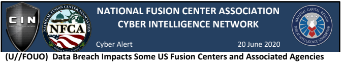 National Fusion Center Cyber Intelligence Network