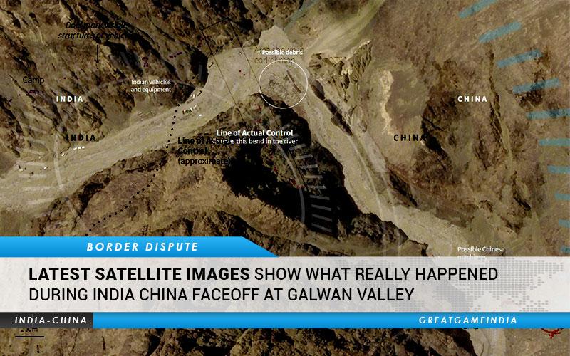 Satellite Images Galwan Valley