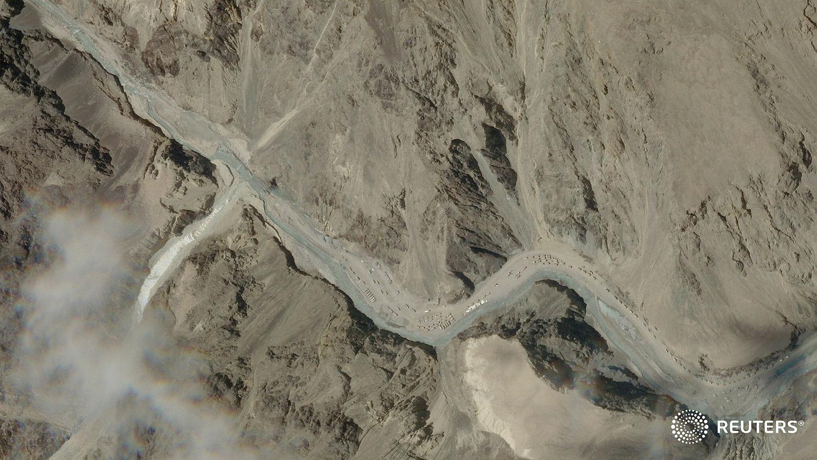 Satellite image of Galwan Valley