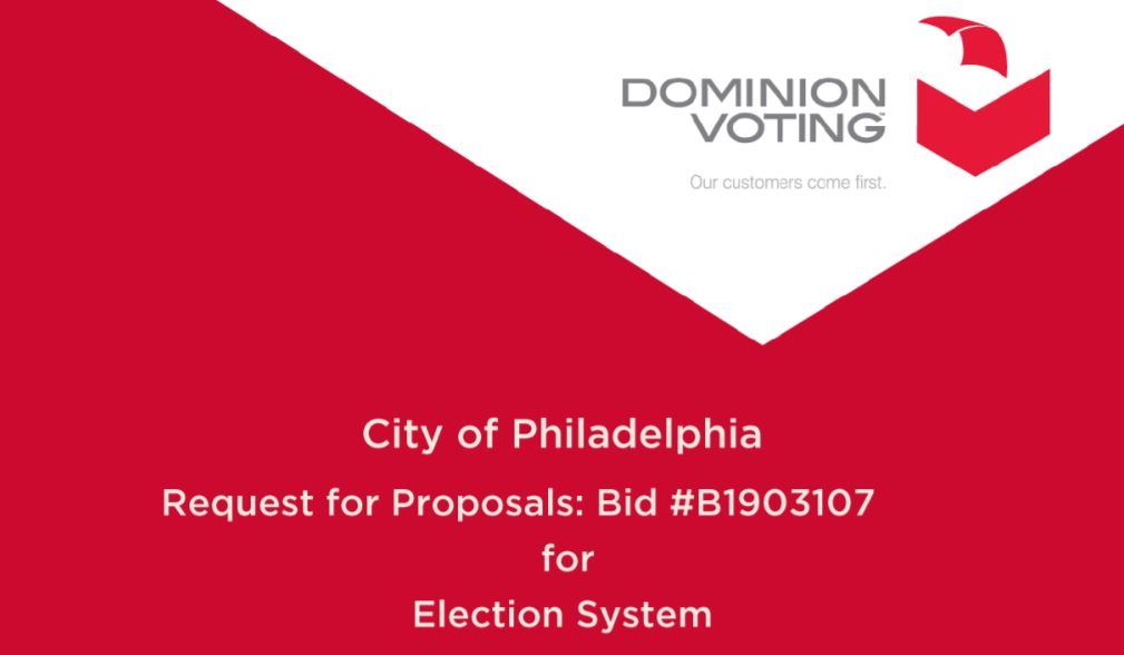 Philadelphia Rejected Dominion Voting Systems For Fear Of Foreign Interference In US Elections