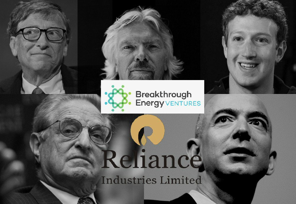 Reliance to invest $50 million in Bill Gates & Grorge Soros owned Breakthrough Energy Ventures
