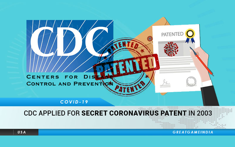 CDC Applied For Secret Coronavirus Patent In 2003