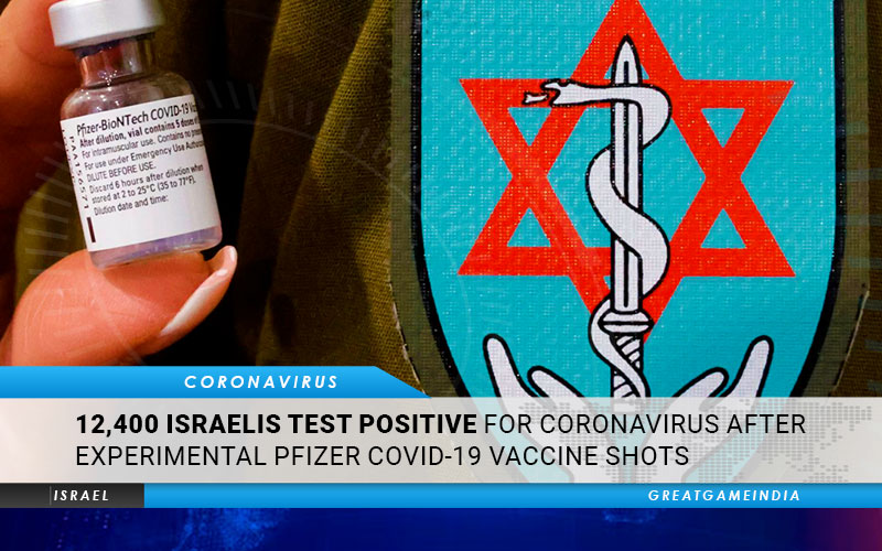12,400 Israelis Test Positive For Coronavirus After Experimental Pfizer COVID-19 Vaccine Shots