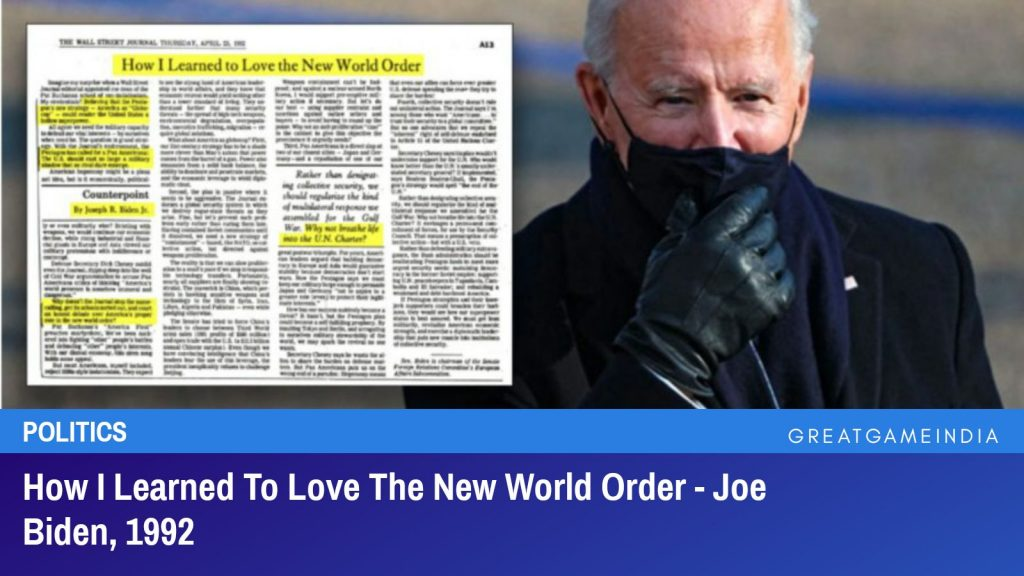 How I Learned To Love The New World Order - Joe Biden, 1992