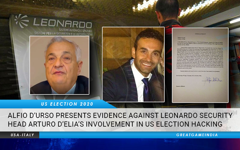 Italian Lawyer Alfio D'Urso Presents Evidence Against Arrested Leonardo Security Head Arturo D'Elia's Involvement In US Election Hacking