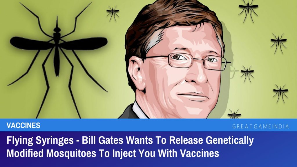 Flying Syringes - Bill Gates Wants To Release Genetically Modified Mosquitoes To Inject You With Vaccines