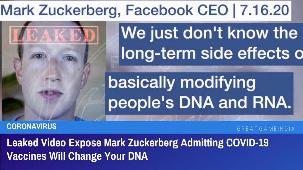 Leaked Video Expose Mark Zuckerberg Admitting COVID-19 Vaccines Will Change Your DNA