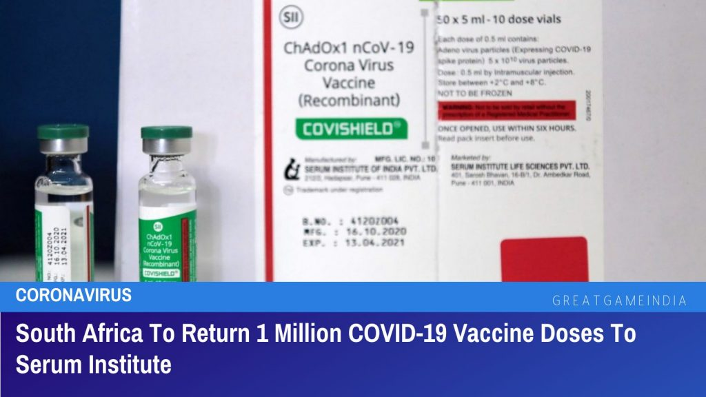 South Africa To Return 1 Million COVID-19 Vaccine Doses To Serum Institute