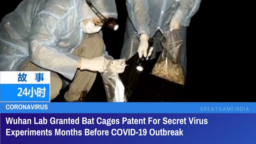 Wuhan Lab Granted Bat Cages Patent For Secret Virus Experiments Months Before COVID-19 Outbreak